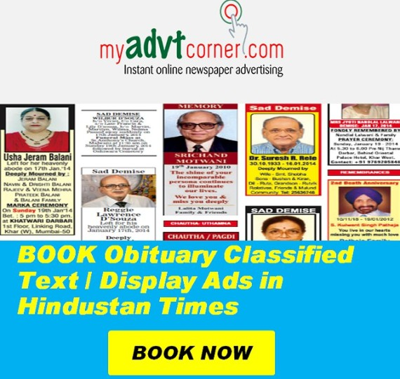 Times of India Obituary Ads